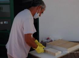 Fabricando jaboncillos de Aloe vera